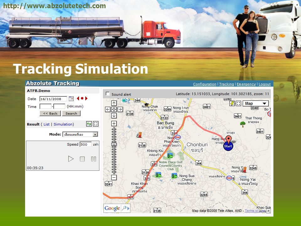 http://www.abzolutetech.com Tracking Simulation