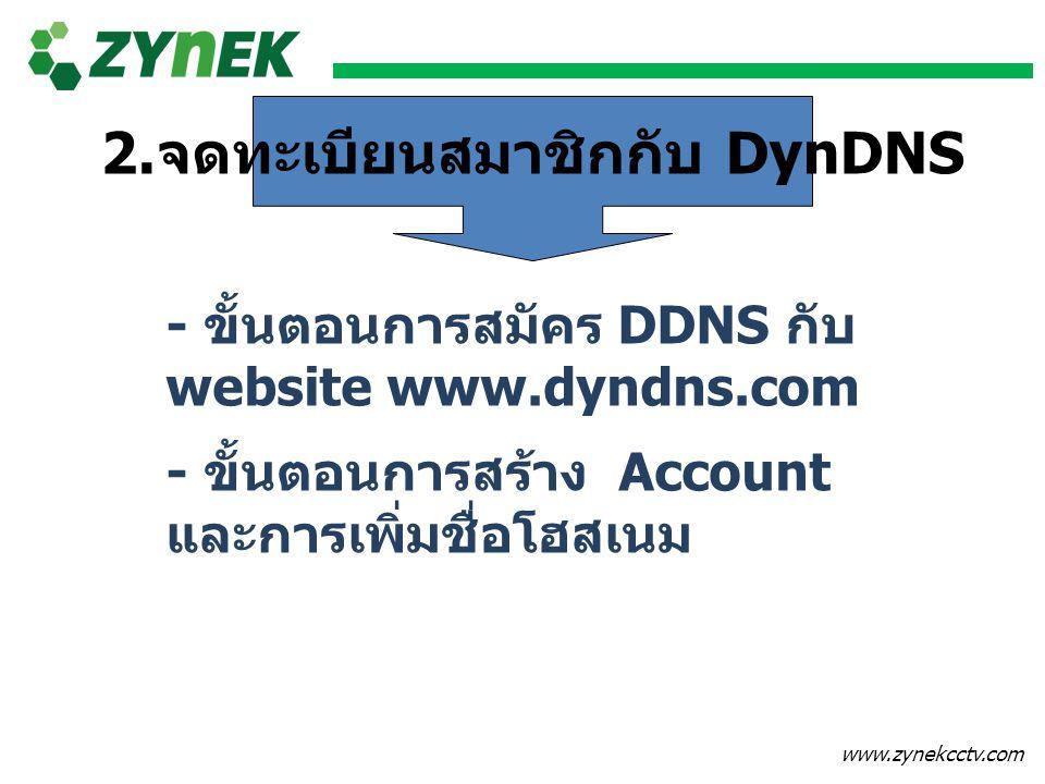 2.จดทะเบียนสมาชิกกับ DynDNS