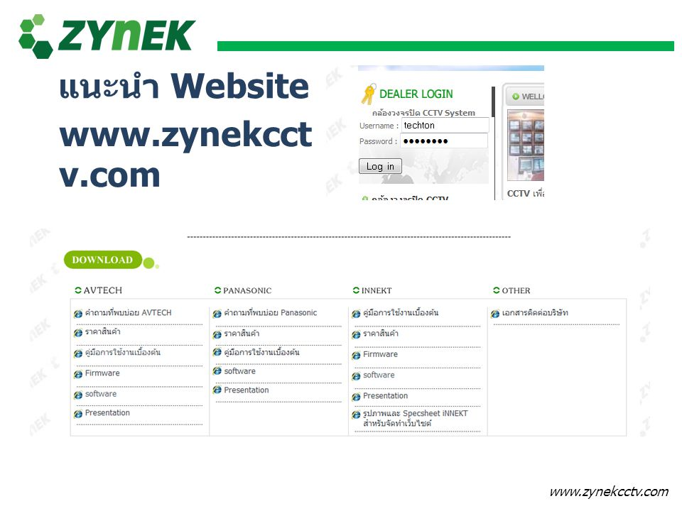 แนะนำ Website www.zynekcctv.com