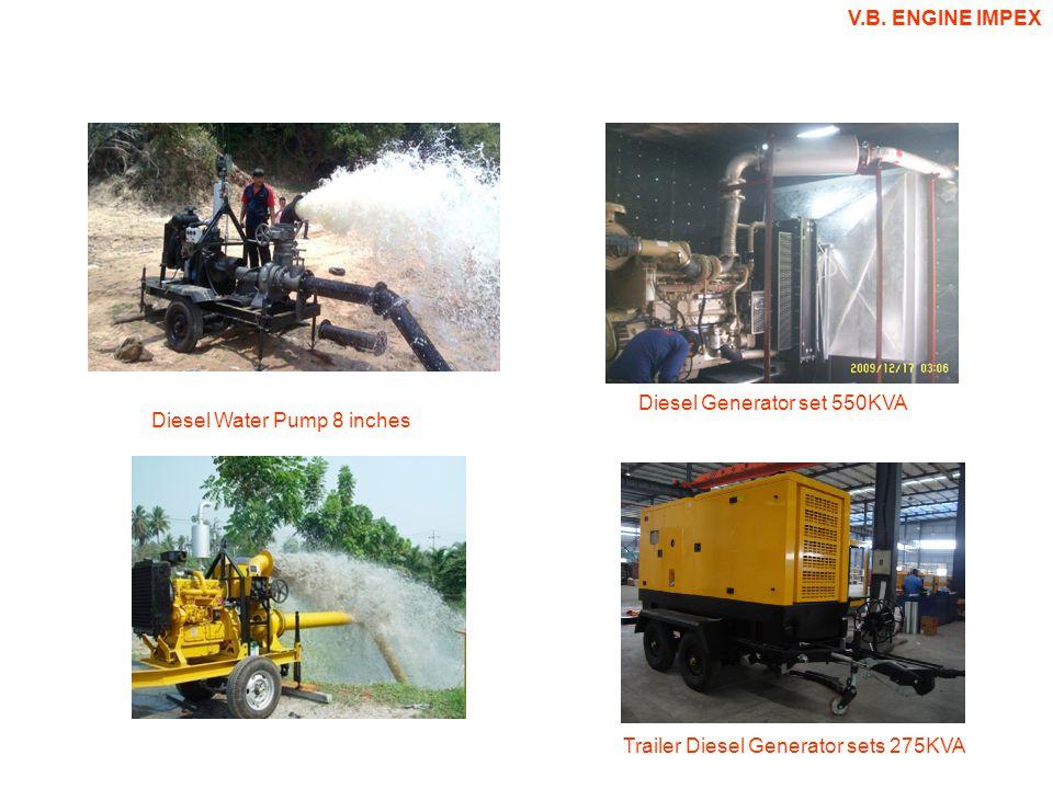 Diesel Generator set 550KVA Diesel Water Pump 8 inches