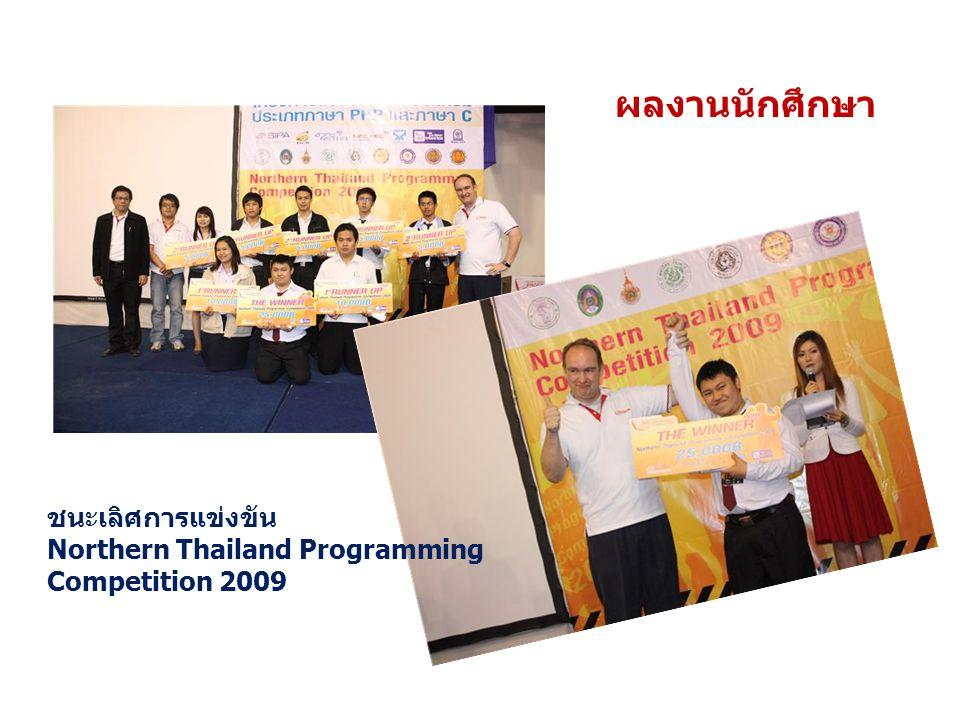 ผลงานนักศึกษา ชนะเลิศการแข่งขัน Northern Thailand Programming Competition 2009