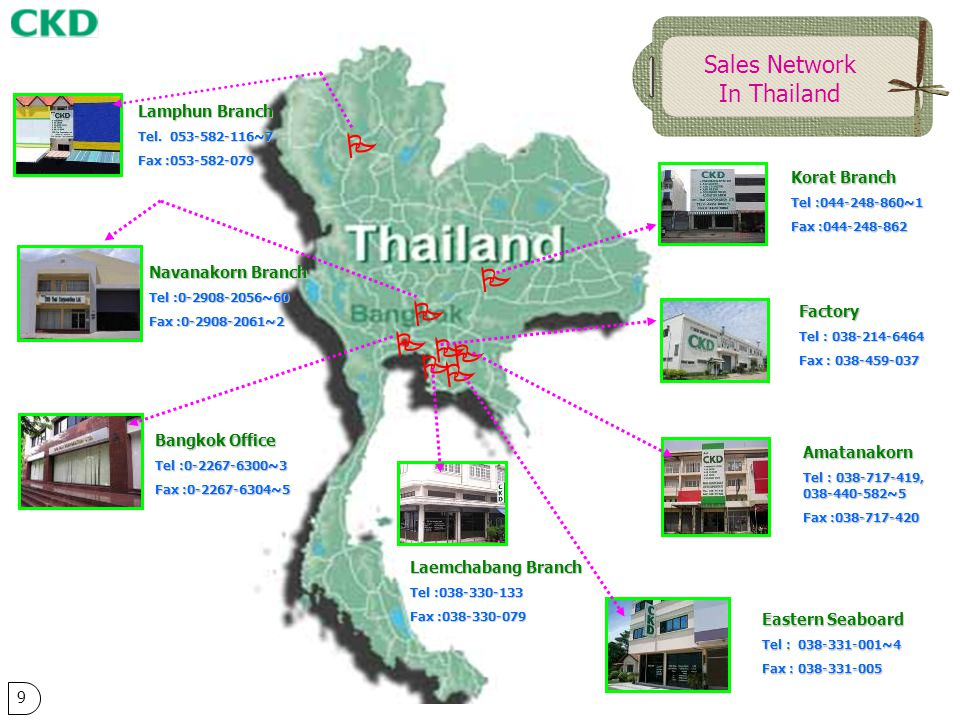        Sales Network In Thailand Lamphun Branch Korat Branch