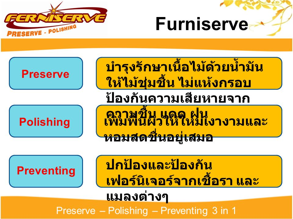 Preserve – Polishing – Preventing 3 in 1