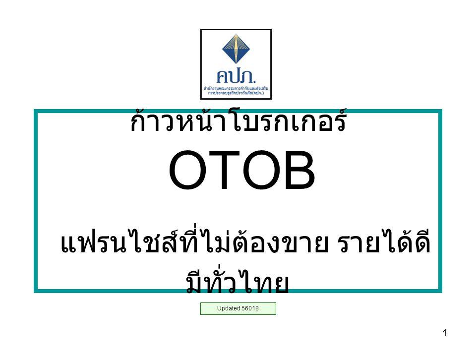 ก้าวหน้าโบรกเกอร์ OTOB แฟรนไชส์ที่ไม่ต้องขาย รายได้ดี มีทั่วไทย