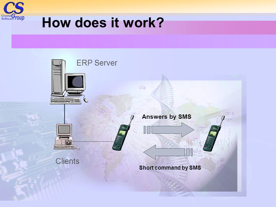 How does it work ERP Server Clients Answers by SMS