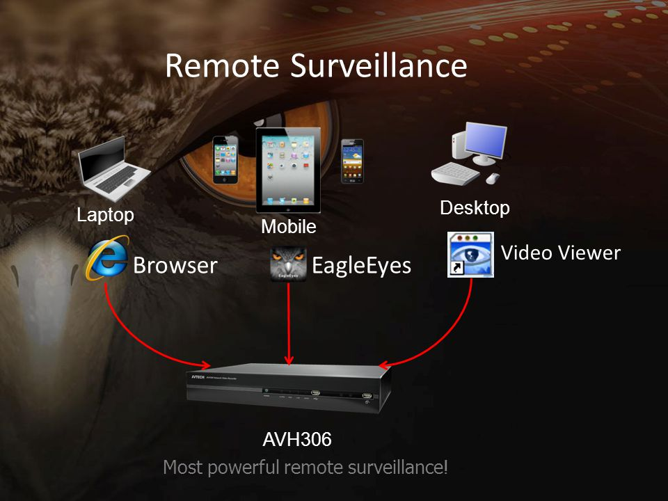 Remote Surveillance Browser EagleEyes Video Viewer Desktop Laptop