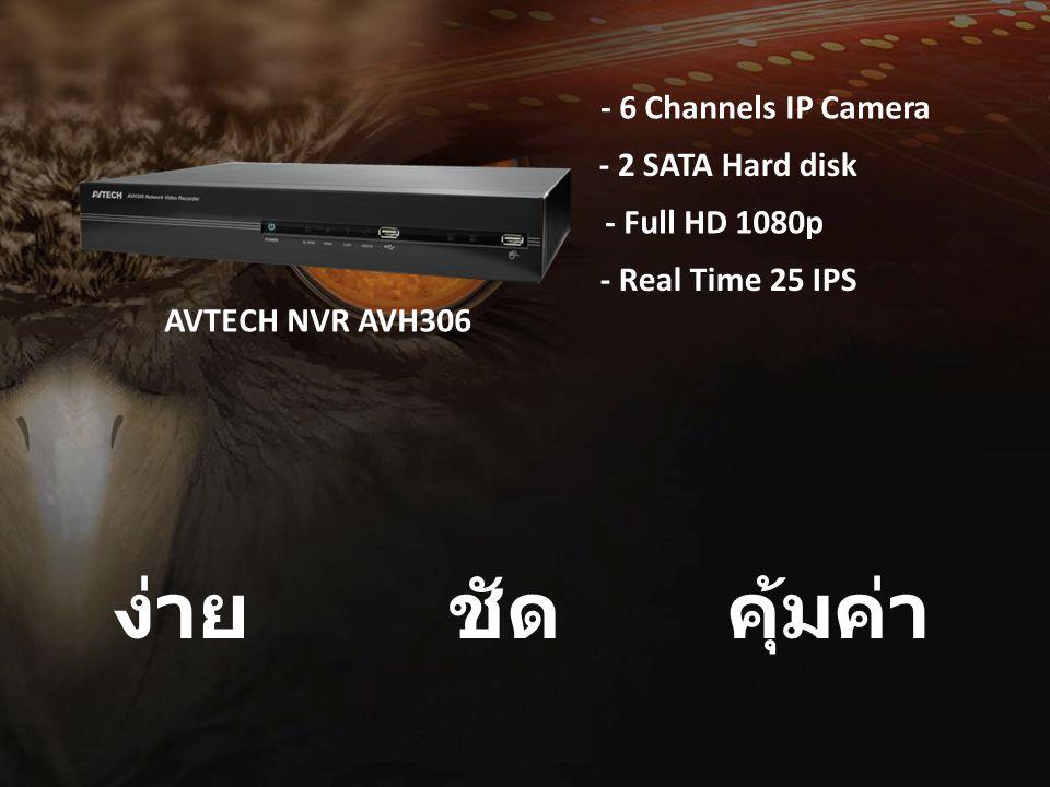 คุ้มค่า ง่าย ชัด - 6 Channels IP Camera - 2 SATA Hard disk