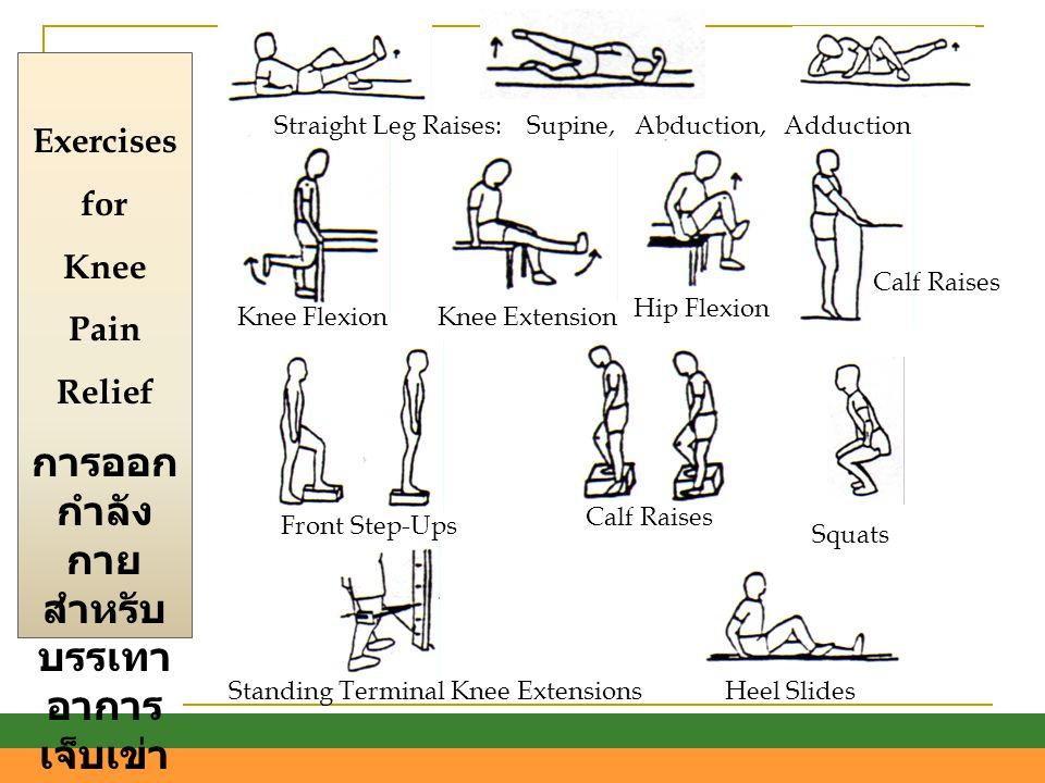 การออกกำลังกายสำหรับบรรเทาอาการเจ็บเข่า