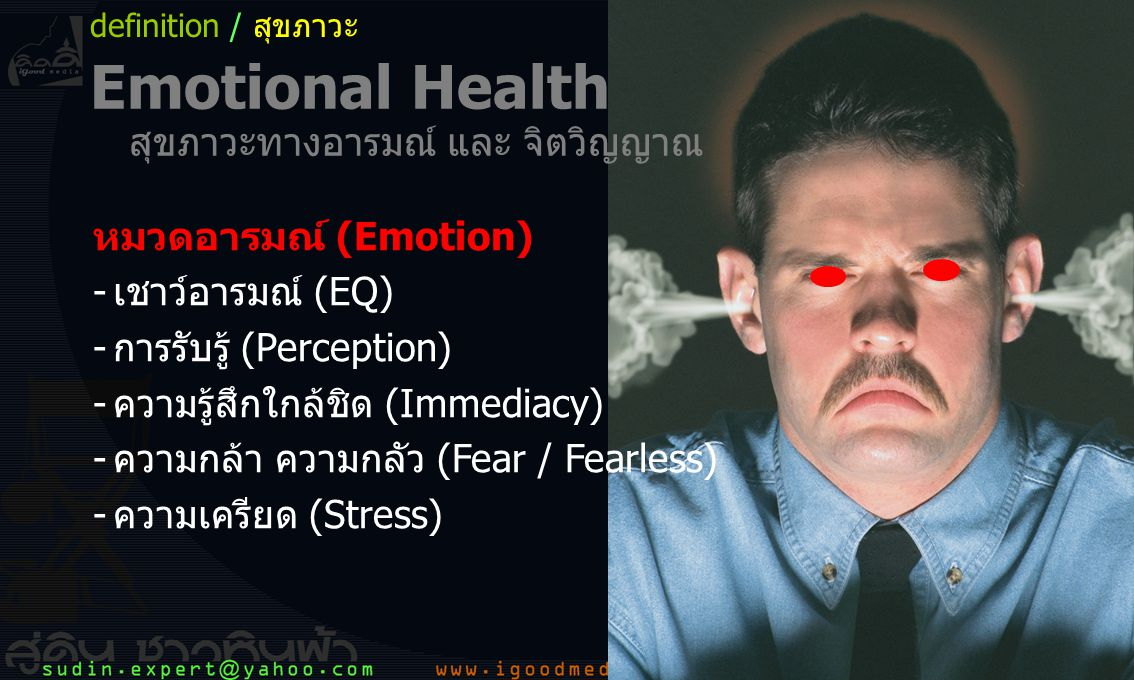 Emotional Health สุขภาวะทางอารมณ์ และ จิตวิญญาณ