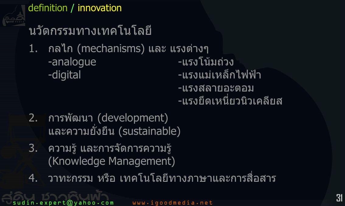 นวัตกรรมทางเทคโนโลยี