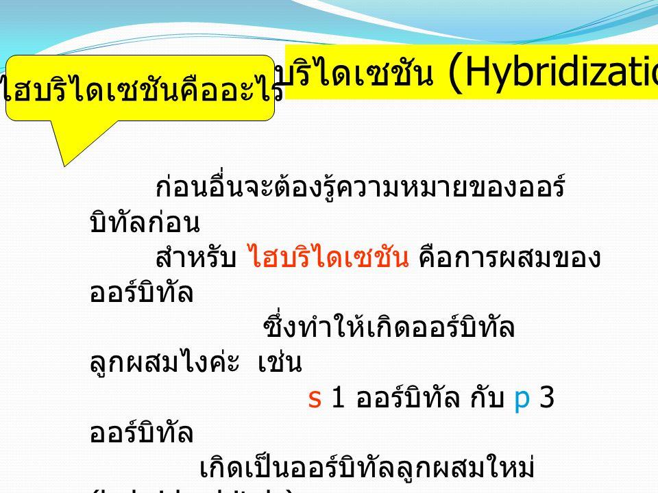 ไฮบริไดเซชัน (Hybridization)