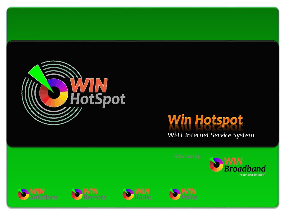 Win Hotspot Wi-Fi Internet Service System Solution by