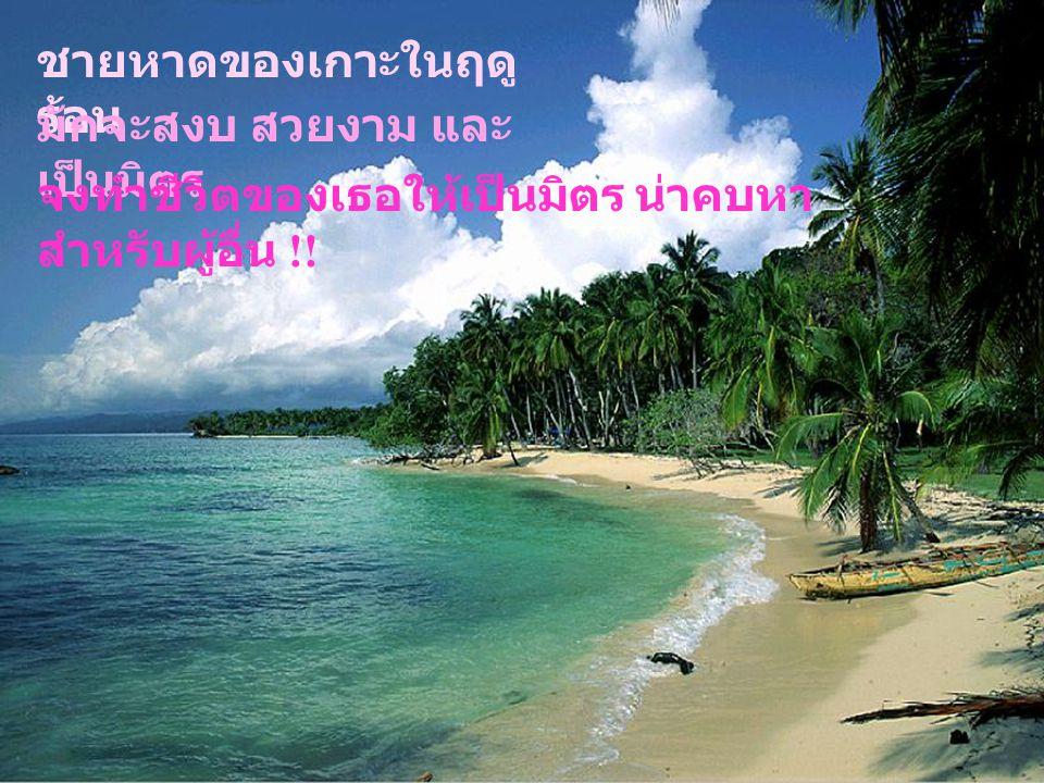 ชายหาดของเกาะในฤดูร้อน