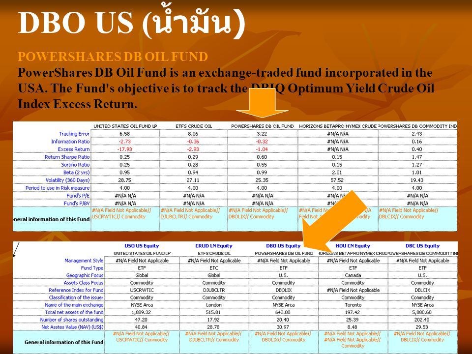 DBO US (น้ำมัน) POWERSHARES DB OIL FUND