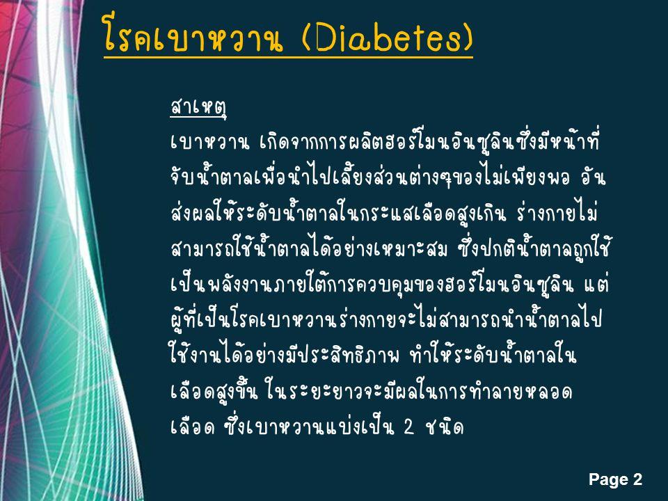 โรคเบาหวาน (Diabetes)