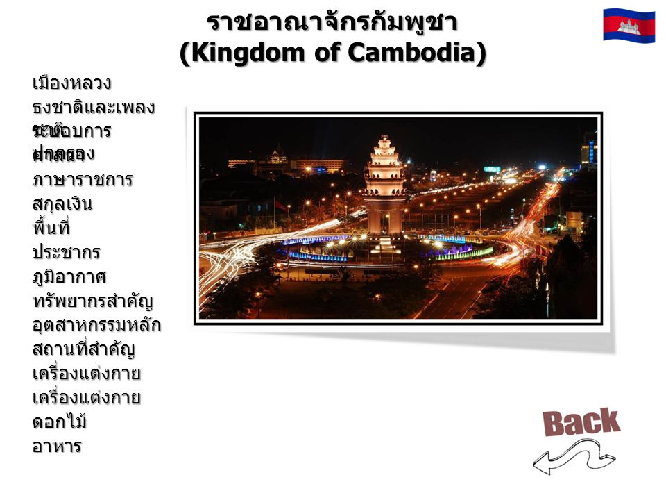 ราชอาณาจักรกัมพูชา (Kingdom of Cambodia)