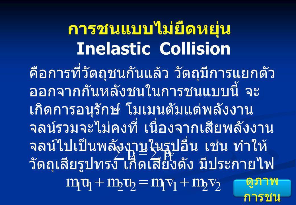 การชนแบบไม่ยืดหยุ่น Inelastic Collision