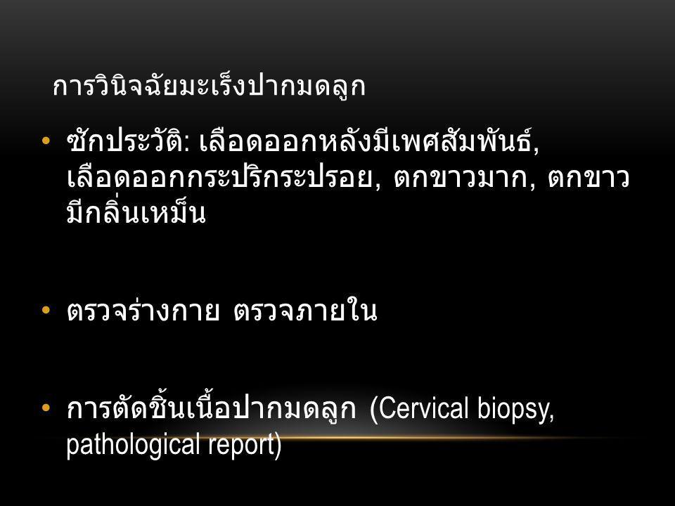 การวินิจฉัยมะเร็งปากมดลูก