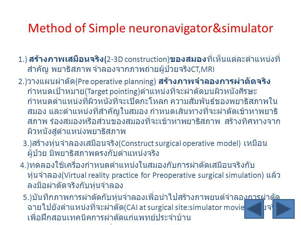 Method of Simple neuronavigator&simulator