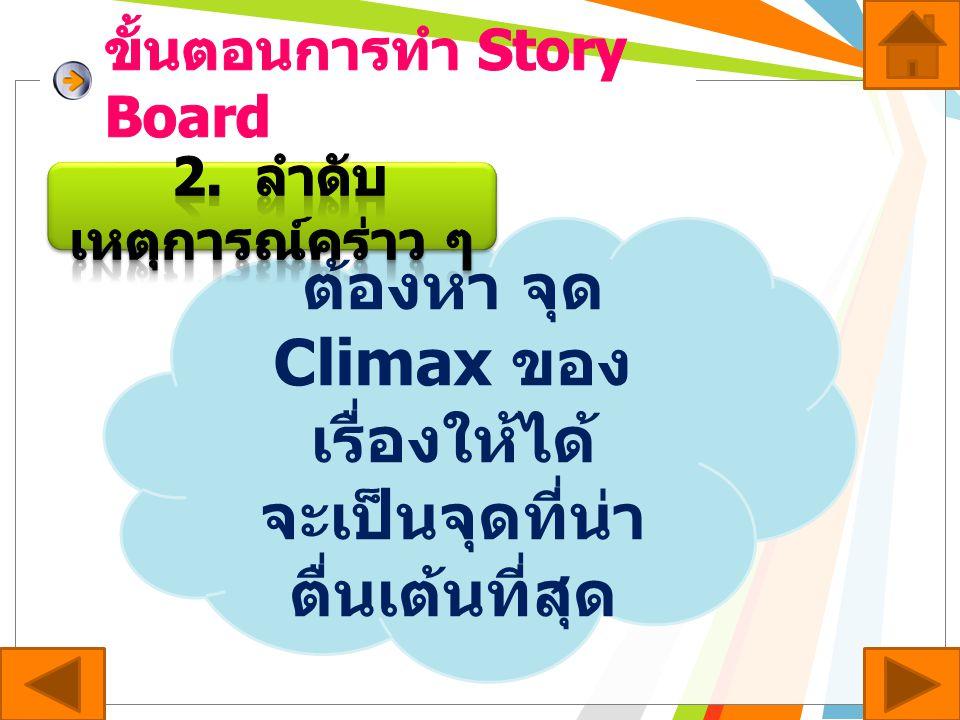 ขั้นตอนการทำ Story Board
