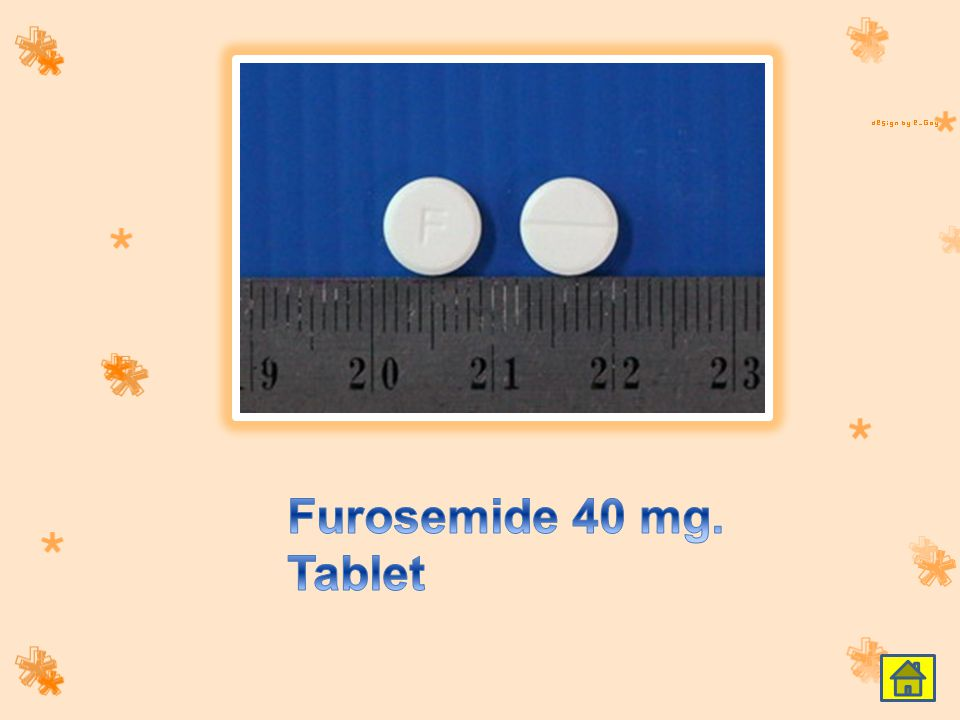 Furosemide 40 mg. Tablet