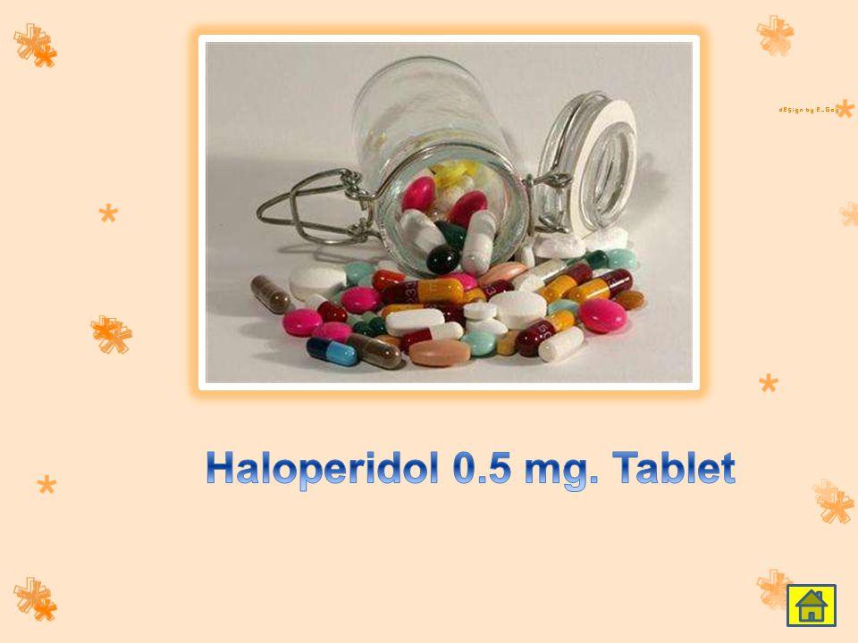 Haloperidol 0.5 mg. Tablet