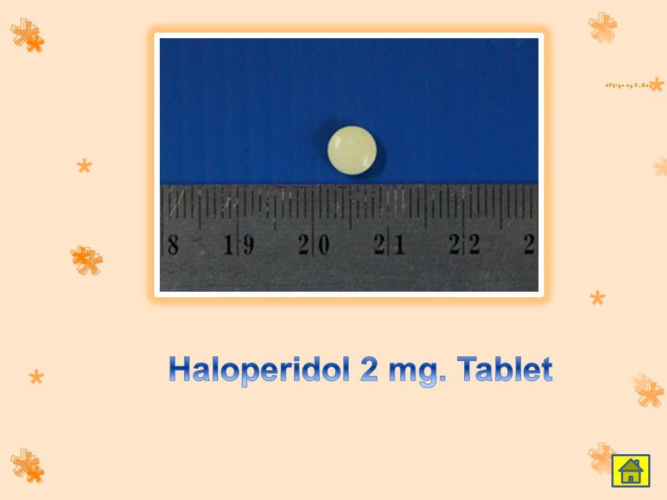 Haloperidol 2 mg. Tablet