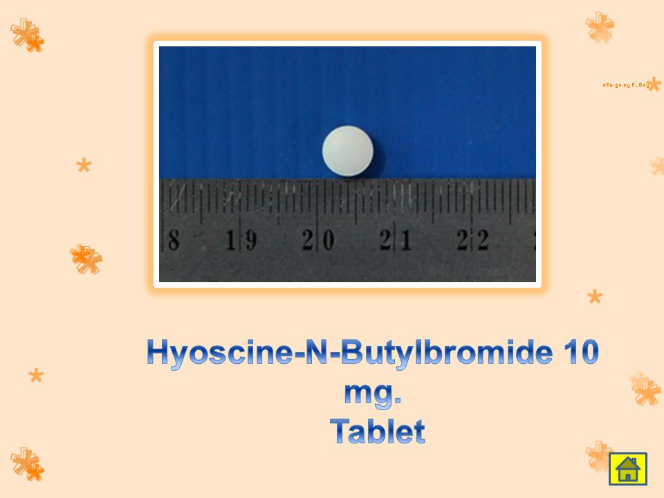 Hyoscine-N-Butylbromide 10 mg. Tablet