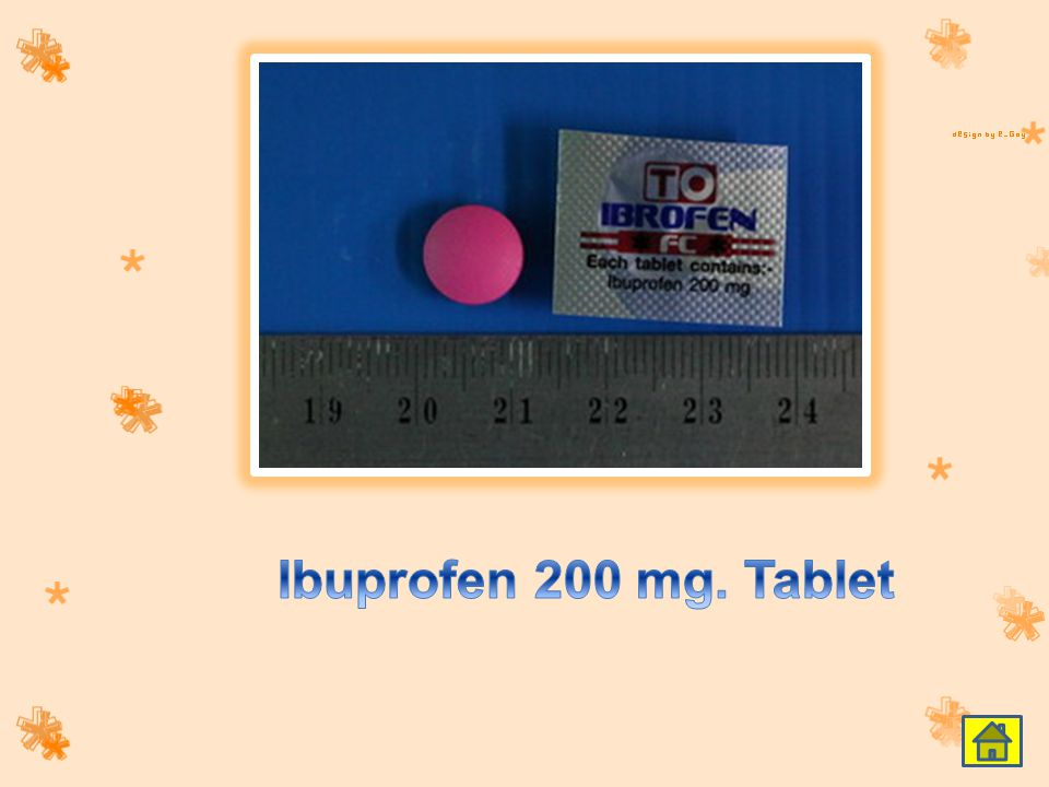 Ibuprofen 200 mg. Tablet