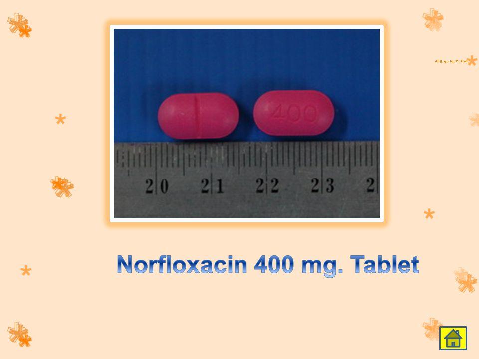 Norfloxacin 400 mg. Tablet