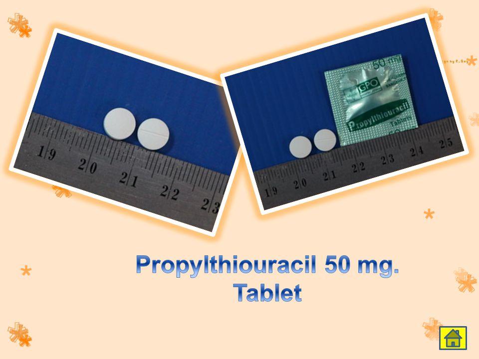 Propylthiouracil 50 mg. Tablet