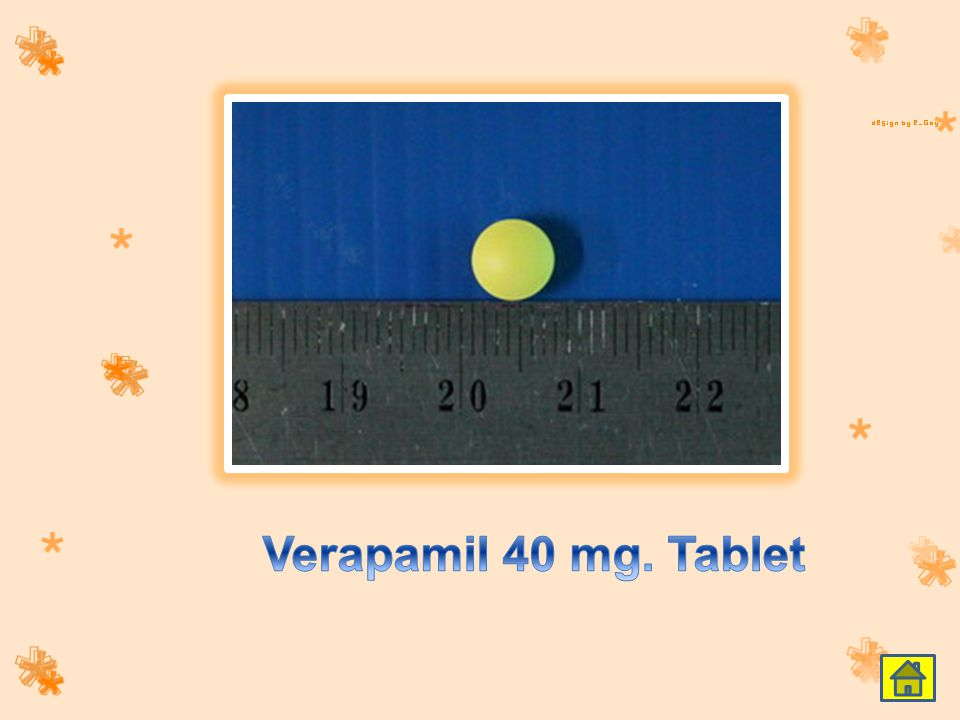 Verapamil 40 mg. Tablet