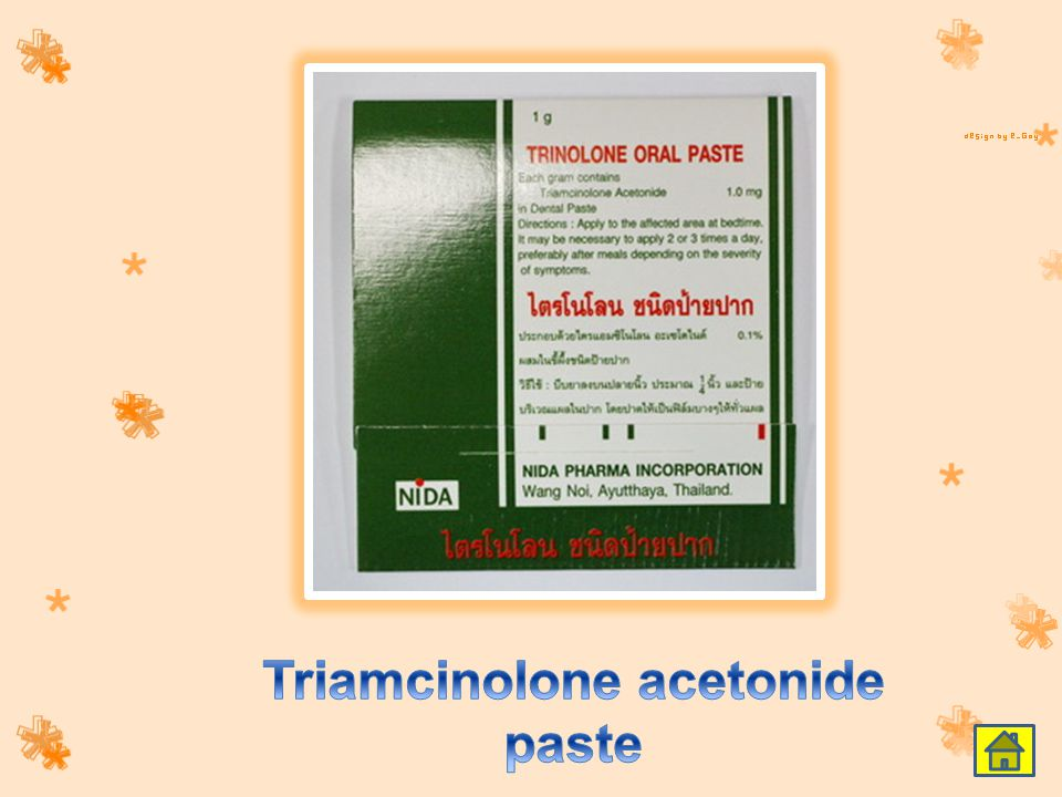 Triamcinolone acetonide paste