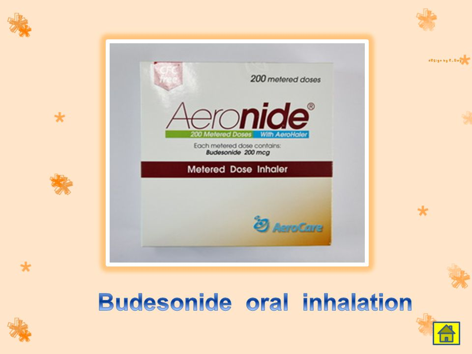 Budesonide oral inhalation