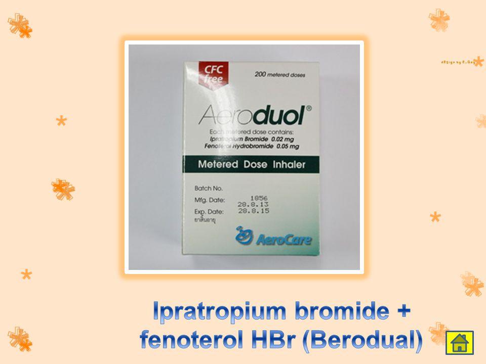 Ipratropium bromide + fenoterol HBr (Berodual)