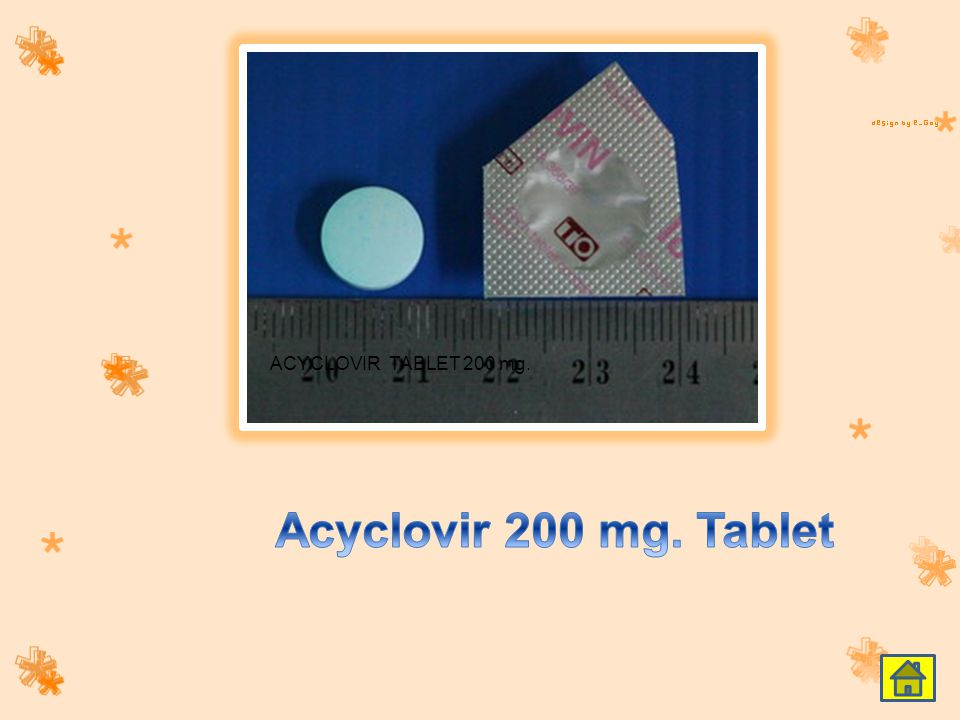 ACYCLOVIR TABLET 200 mg. Acyclovir 200 mg. Tablet