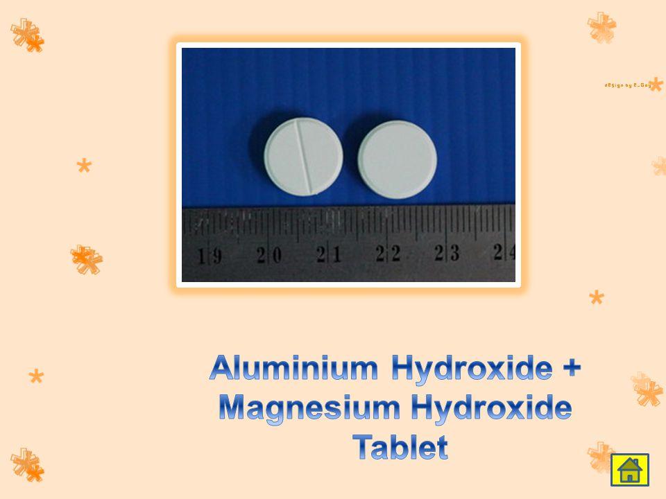 Aluminium Hydroxide + Magnesium Hydroxide Tablet