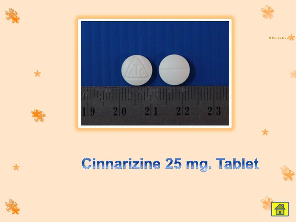 Cinnarizine 25 mg. Tablet