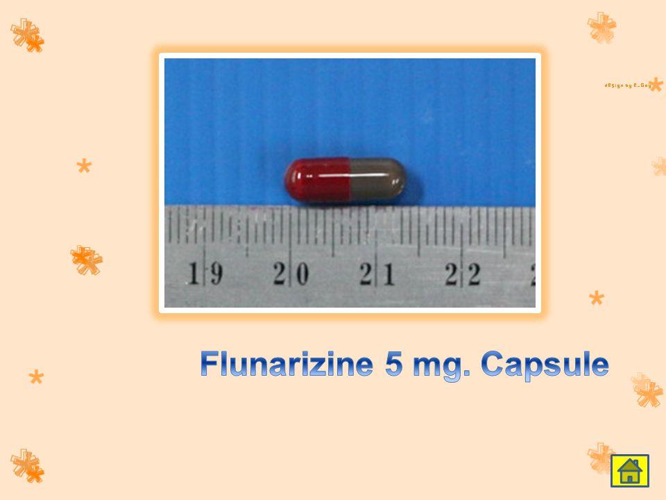Flunarizine 5 mg. Capsule