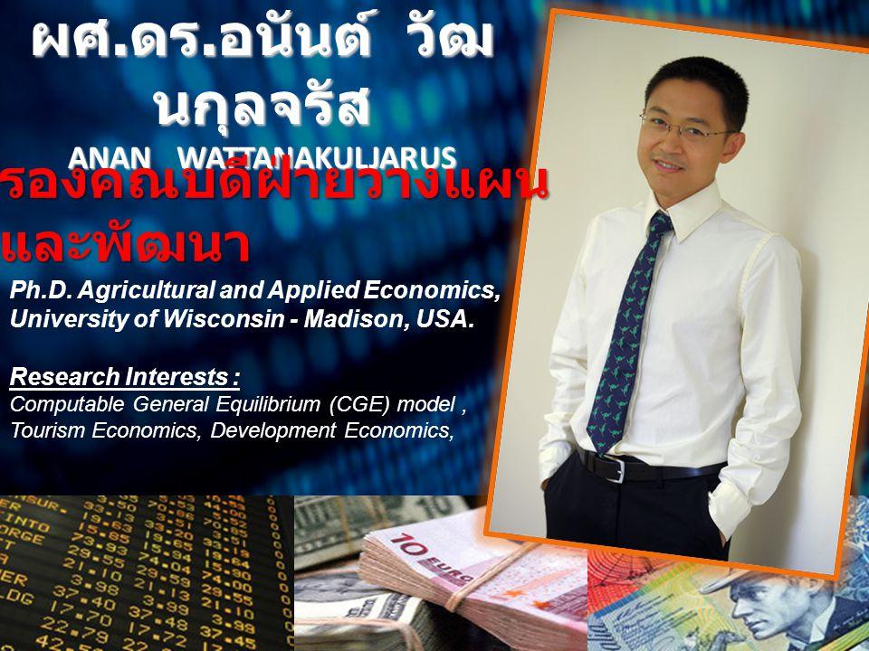 ผศ.ดร.อนันต์ วัฒนกุลจรัส ANAN WATTANAKULJARUS