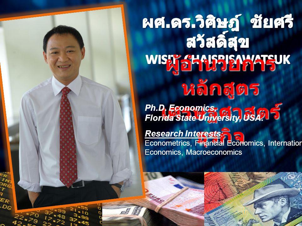 ผู้อำนวยการหลักสูตร เศรษฐศาสตร์ธุรกิจ