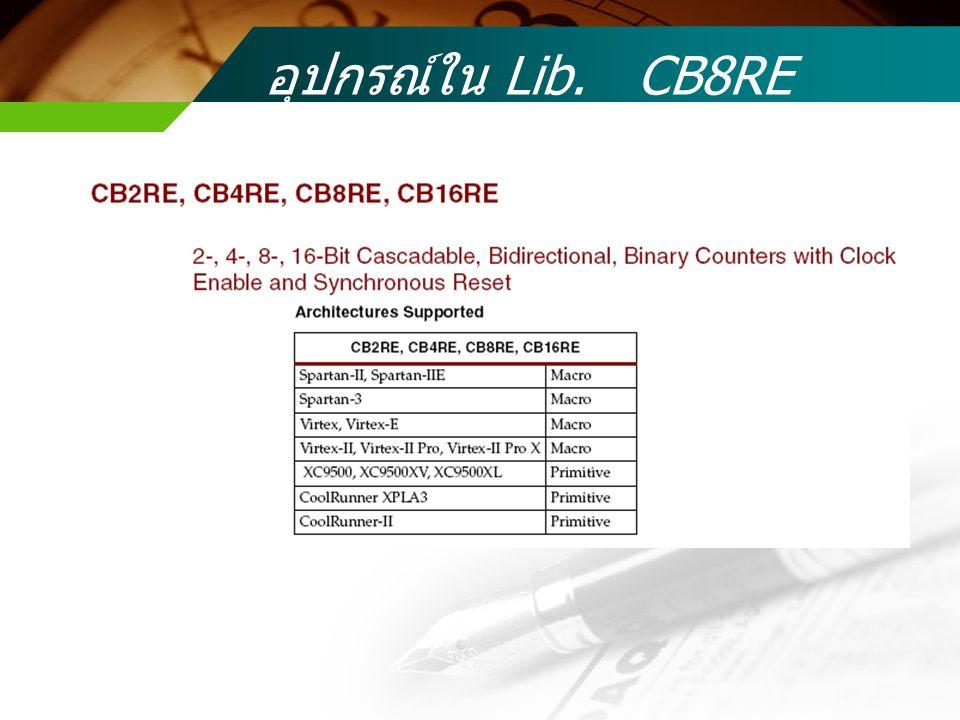 อุปกรณ์ใน Lib. CB8RE