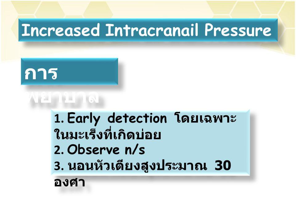 การพยาบาล Increased Intracranail Pressure
