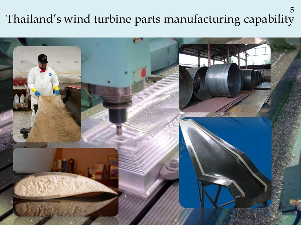 Thailand's wind turbine parts manufacturing capability