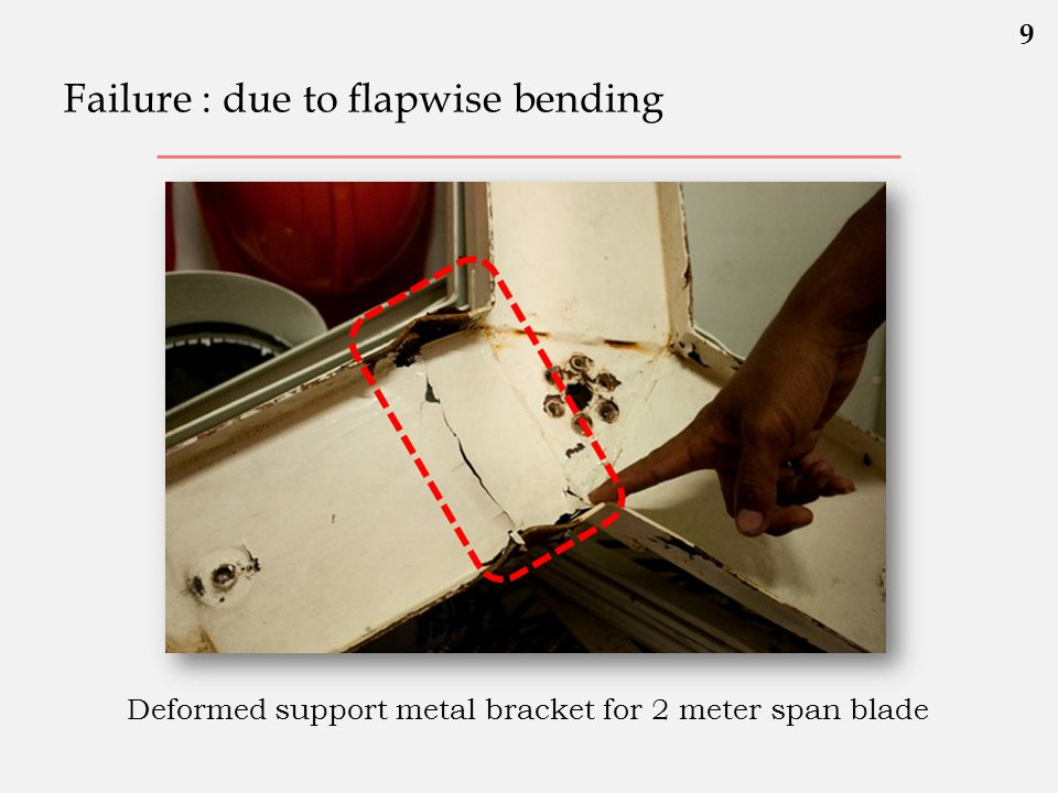 Failure : due to flapwise bending