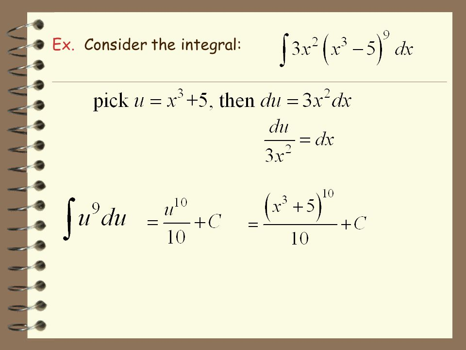 Ex. Consider the integral: