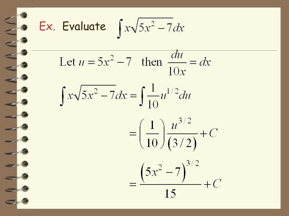 Ex. Evaluate