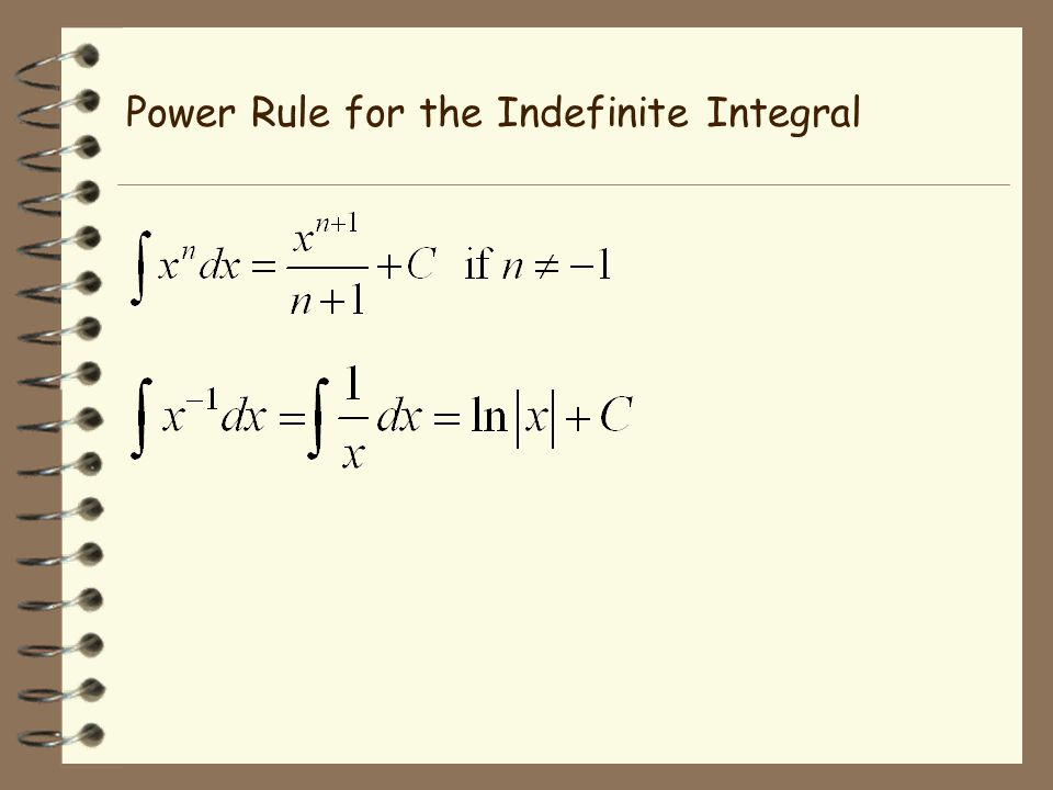 Power Rule for the Indefinite Integral