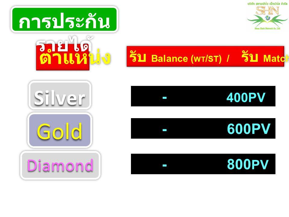Gold Silver การประกันรายได้ ตำแหน่ง Diamond