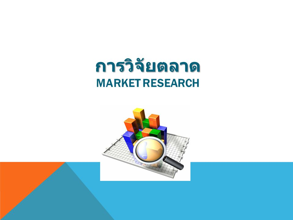การวิจัยตลาด Market Research